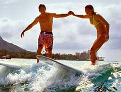 Hawaii - Friends - Surfing Lesson